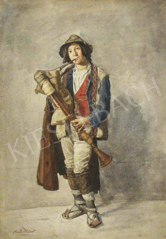 Eladó  Nádler Róbert - Fiú dudával festménye