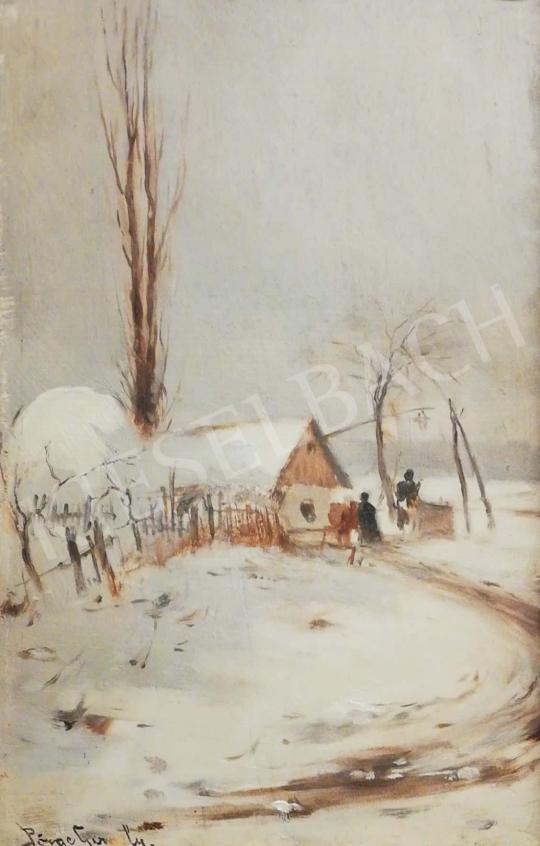 For sale Pörge, Gergely - Winter Scene in Countryside 's painting