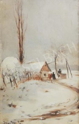 Pörge Gergely - Téli életkép a tanyavilágban