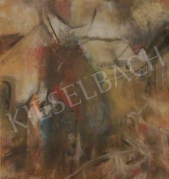 Eladó Barzó Endre - Falusi utcakép, 1942 festménye