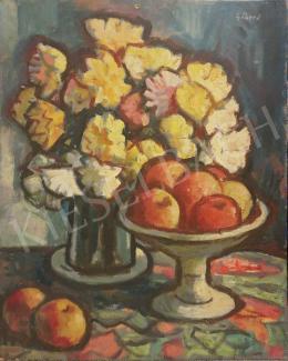 Gábor Jenő - Virág és gyümölcs kompozíció