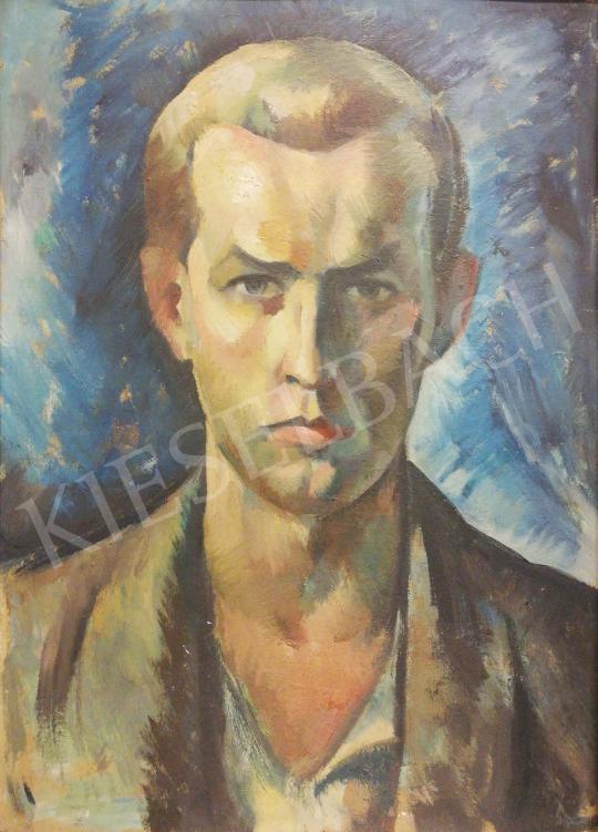 Gábor, Jenő - Self-Portrait painting