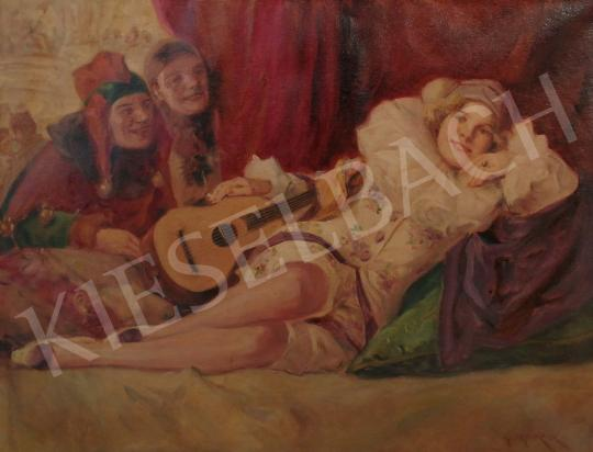 For sale Geiger, Richárd - Pierrot and his Admirers 's painting
