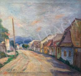 Bencze, Margit - Village View in Afternoon Lights
