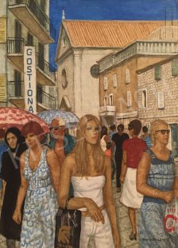 Czene, Béla jr. - Blonde Girl on the Mediterranean Street, 1980