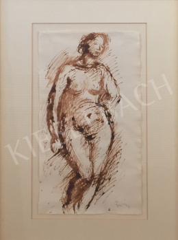 Berény, Róbert - Standing Female Nude