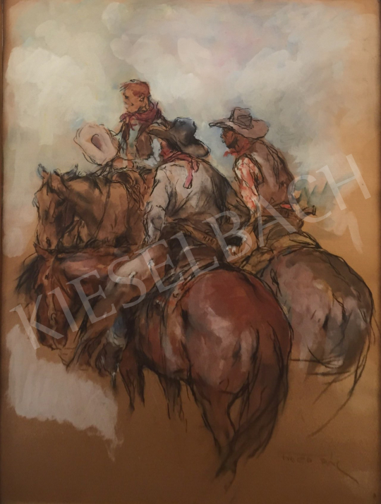 For sale  Fried, Pál - 3 Cowboy 's painting