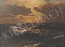 Kárpáthy Jenő - Napnyugta a tengeren