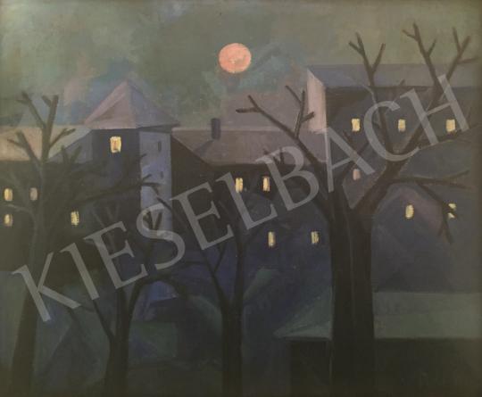 Eladó  Böhm Lipót - Éjszakai táj festménye