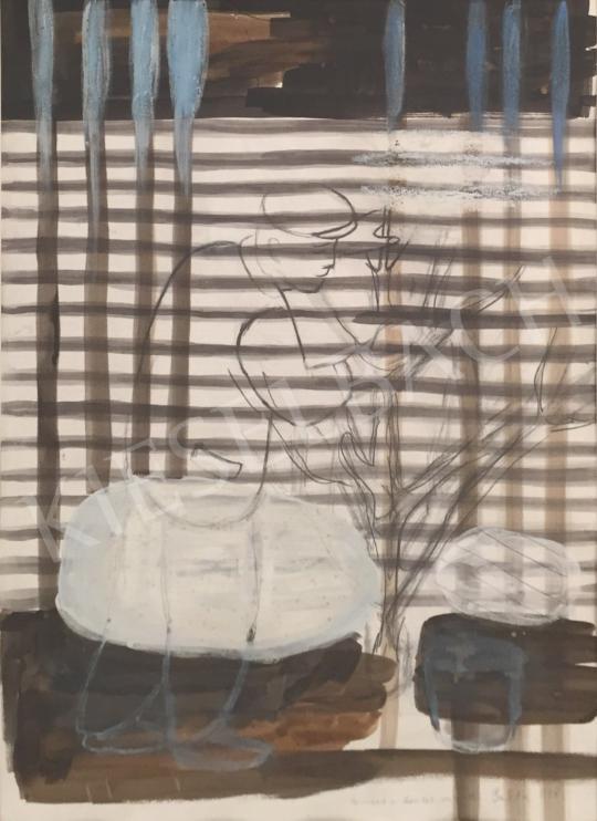 Eladó  Bukta Imre - Famosó a kerítés mögött, 1998 festménye