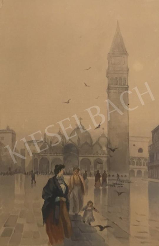 Eladó Ismeretlen festő - Velencei Szent Márk tér festménye
