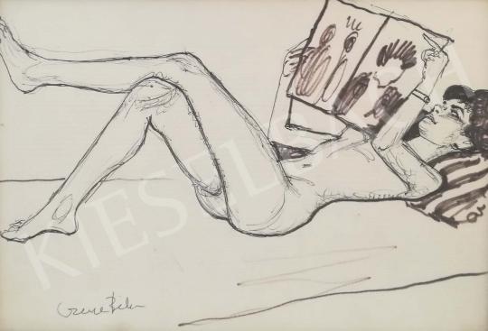 For sale Czene, Béla jr. - Magazint lapozgató lány 's painting