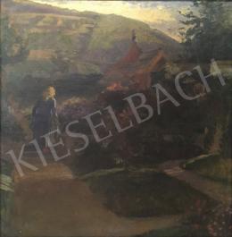 Ismeretlen nagybányai festő - Hazafelé (Nagybánya)
