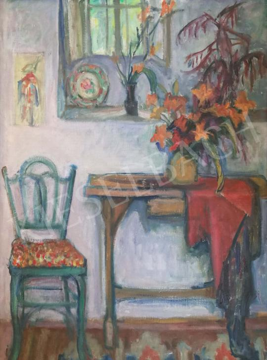 For sale Gráber, Margit - Interior with flowers 's painting
