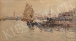 Pálla Jenő - A velencei lagúnán