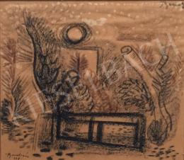 Bene Géza - Szentendrei táj, 1948