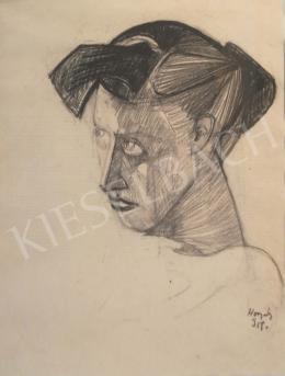 Hornyánszky, Gyula - Woman Portrait (Dreamer), 1959