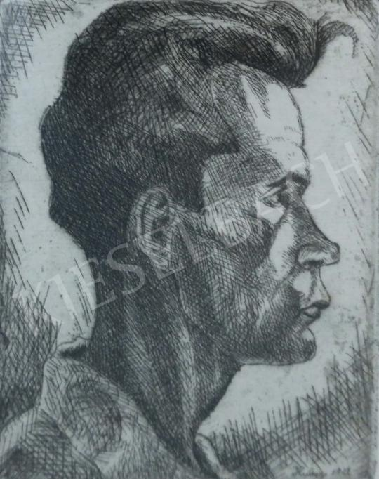 For sale Dési Huber, István - Young Self-Portrait, 1927 's painting