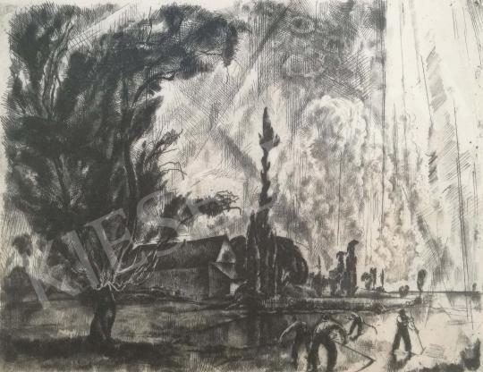 Aba-Novák, Vilmos - Felsőbánya (Reapers) painting