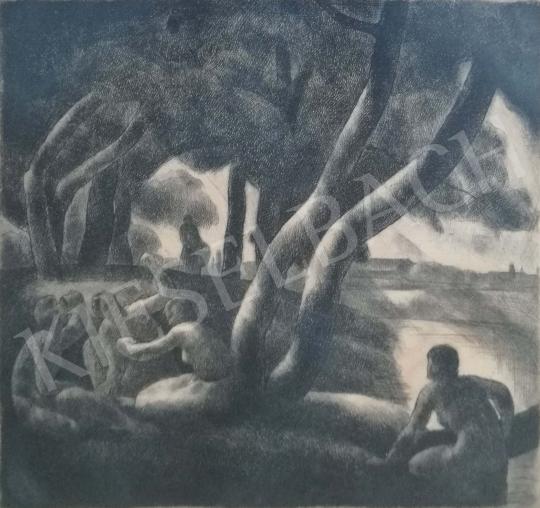 Eladó  Patkó Károly - Fürdőzők festménye