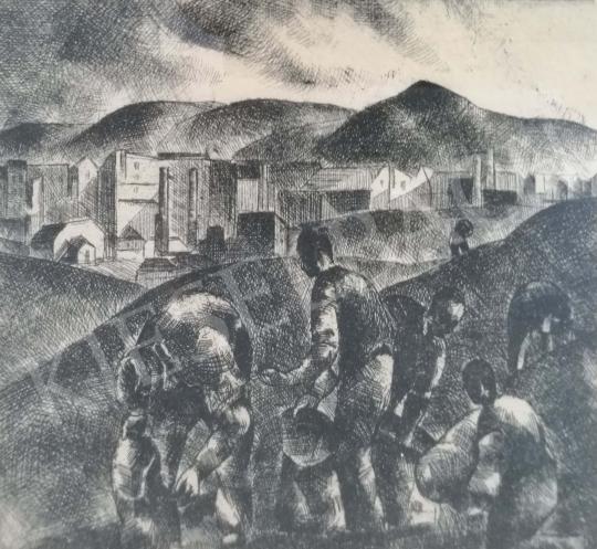 Eladó Tihanyi János Lajos - Külvárosi részlet festménye
