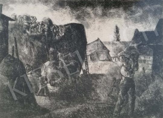 Eladó Tihanyi János Lajos - Kazalozás festménye