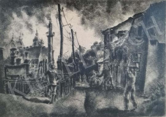 Eladó Tihanyi János Lajos - Gellért-hegy utca festménye