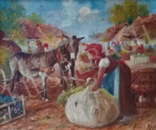 For sale Gyertyáni Németh, Gyula - Donkey Carriage Coach 's painting