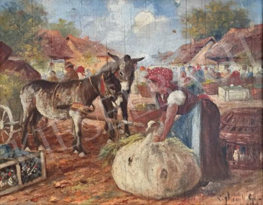 For sale Gyertyáni Németh, Gyula - Donkey Carriage Coach on the Market 's painting