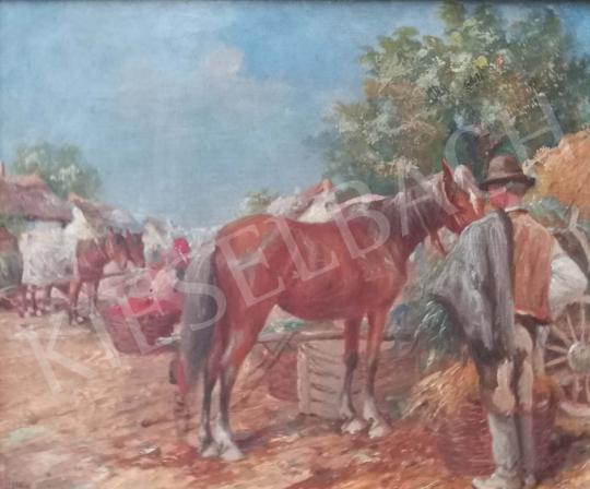Eladó Gyertyáni Németh Gyula - Szénavásár festménye