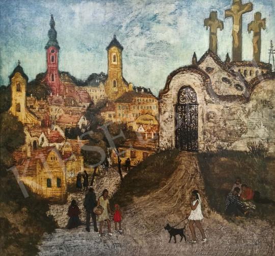 Eladó  Hikádi Erzsébet - Szentendre festménye