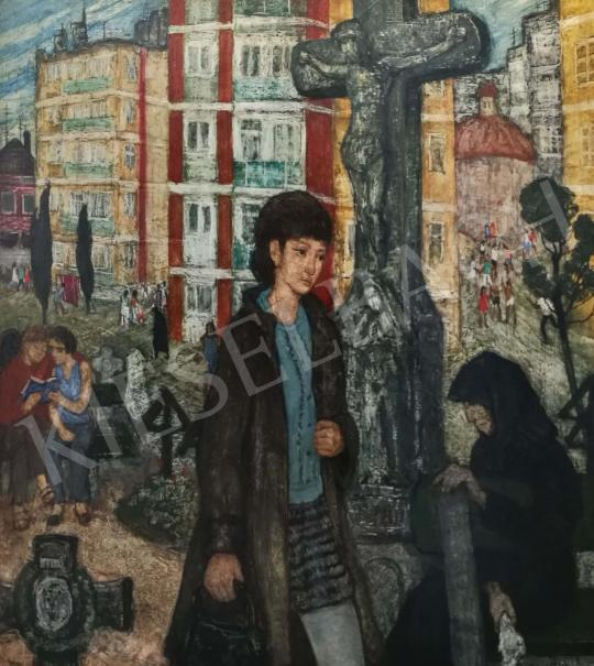 For sale  Hikádi Erzsébet - In the City 's painting