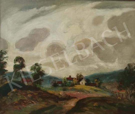 Eladó  Magyar Mannheimer Gusztáv - Felhős táj festménye