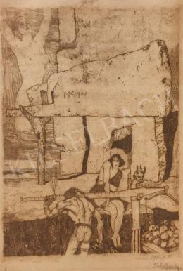 Tichy Gyula - Szimbolikus kompozíció II. (ókor)