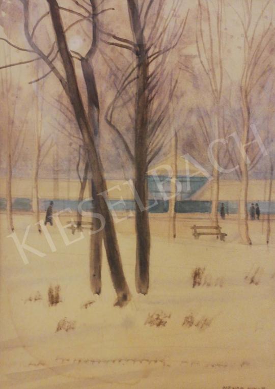 Eladó Hende Vince - Téli park festménye