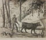 Derkovits Gyula - Hazafelé festménye