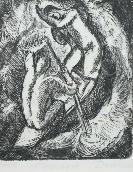 Derkovits Gyula - Evezősök festménye