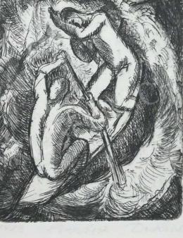 Derkovits Gyula - Evezősök