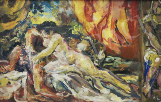For sale  Herman, Lipót - Pyramus and Thisbe 's painting