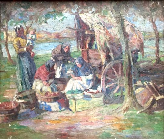 Eladó  Vörös jelzéssel - Asszonyok Gyümölcsökkel  festménye