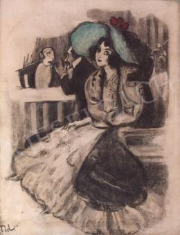Márk, Lajos - Girl in Green Hat