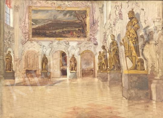 For sale Bruck, Lajos - Knight's Hall of Schleissheim Castle 's painting