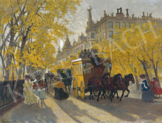 Berkes, Antal - Boulevard with an Omnibus, 1905 | 61st Spring Auction auction / 1 Item