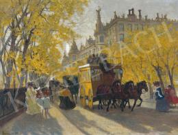 Berkes, Antal - Boulevard with an Omnibus, 1905