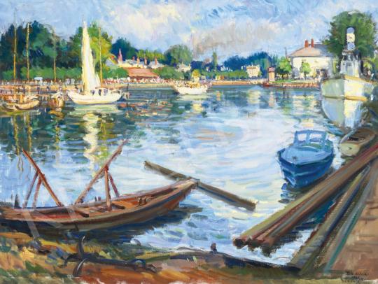 Boldizsár István - Siófoki kikötő, 1956 | 61. Tavaszi Aukció aukció / 7 tétel