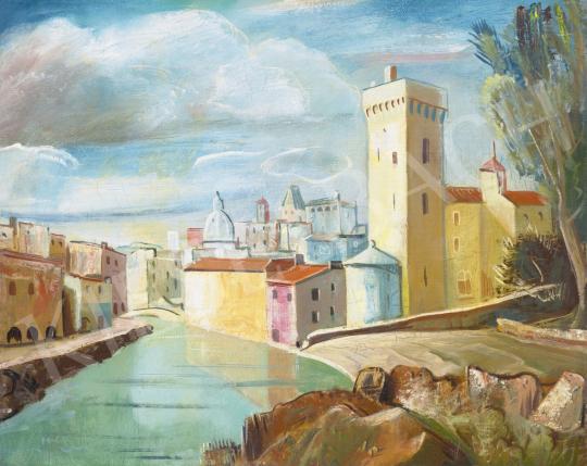 Molnár C. Pál - Olasz város, 1930-as évek | 61. Tavaszi Aukció aukció / 8 tétel