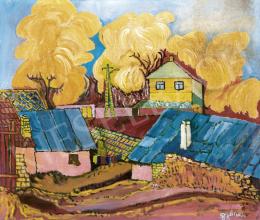 Balázs János - Pécskődombi cigánytelep (Otthon), 1975