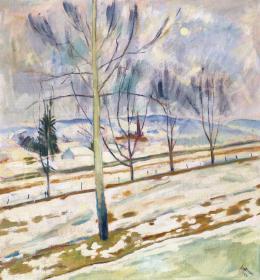 Szolnay, Sándor - Snow Melting (Transylvania), 1943