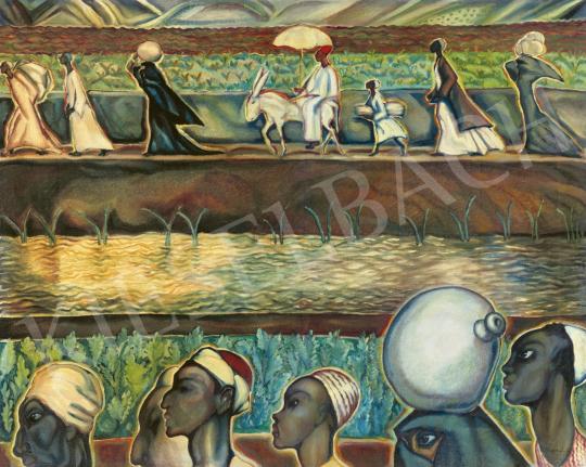 Batthyány Gyula - Egyiptomi utazás (A folyó két partján), 1933 körül | 61. Tavaszi Aukció aukció / 22 tétel