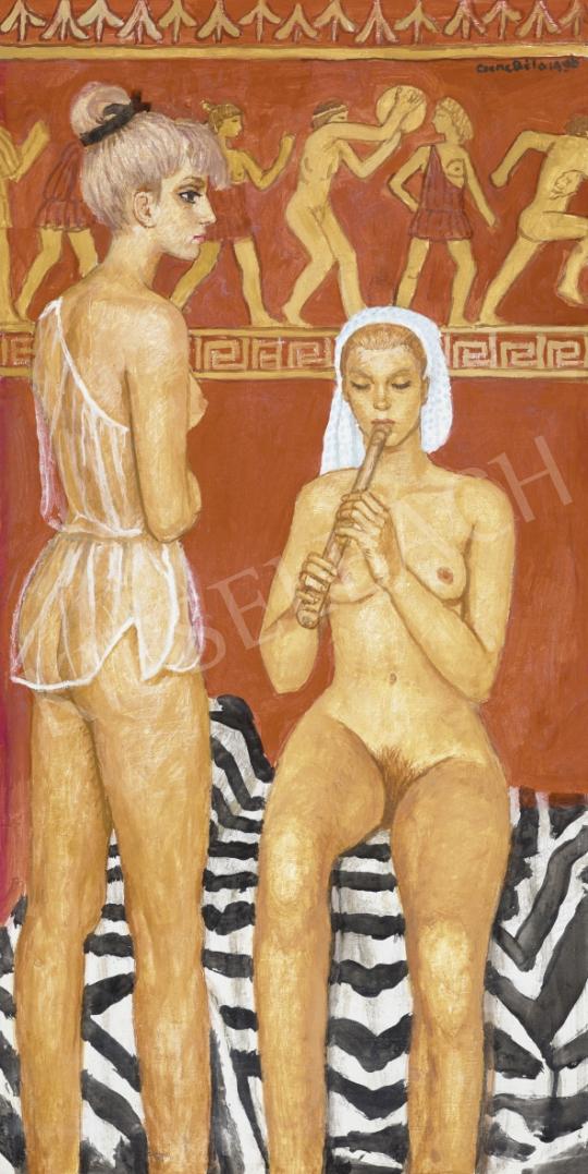 Czene Béla - Pompeii nők, 1966 | 61. Tavaszi Aukció aukció / 23 tétel